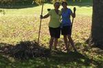 Happy volunteers on the working bee.