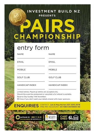 Hororata Pairs Tournament Entry Form